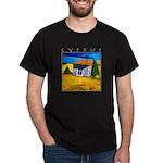 Cyprus, Akamathea Hut Dark T-Shirt