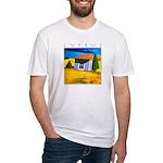 Cyprus, Akamathea Hut Fitted T-Shirt