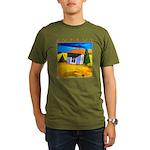 Cyprus, Akamathea Hut Organic Men's T-Shirt (dark)