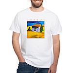Cyprus, Akamathea Hut White T-Shirt