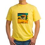 Cyprus, Akamathea Hut Yellow T-Shirt