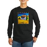 Cyprus, Akamathea Hut Long Sleeve Dark T-Shirt