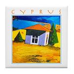 Cyprus, Akamathea Hut Tile Coaster