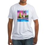 Cyprus, hottest day Fitted T-Shirt