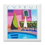 Cyprus, hottest day Tile Coaster