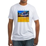 Cyprus, beached Fitted T-Shirt