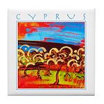 Cyprus, Olive Grove Tile Coaster