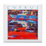 Cyprus, Latchi Harbour Tile Coaster