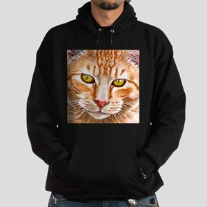 Orange Tabby Painting Hoodie (dark)