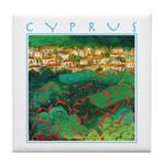 Cyprus, Akamas Village Tile Coaster
