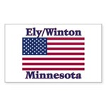 Ely Flag Rectangle Sticker