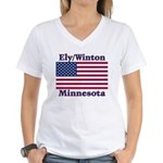Ely Flag Women's V-Neck T-Shirt
