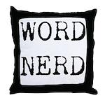 Word Nerd Throw Pillow