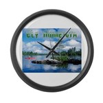 Ely Wilderness Scene Large Wall Clock