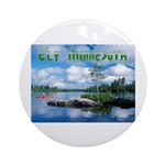 Ely Wilderness Scene Ornament (Round)