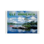 Ely Wilderness Scene Rectangle Magnet