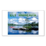 Ely Wilderness Scene Rectangle Sticker