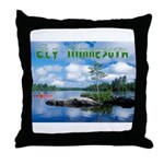 Ely Wilderness Scene Throw Pillow