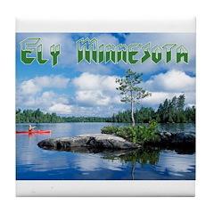 Ely Wilderness Scene Tile Coaster