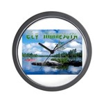 Ely Wilderness Scene Wall Clock