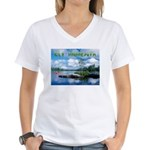 Ely Wilderness Scene Women's V-Neck T-Shirt