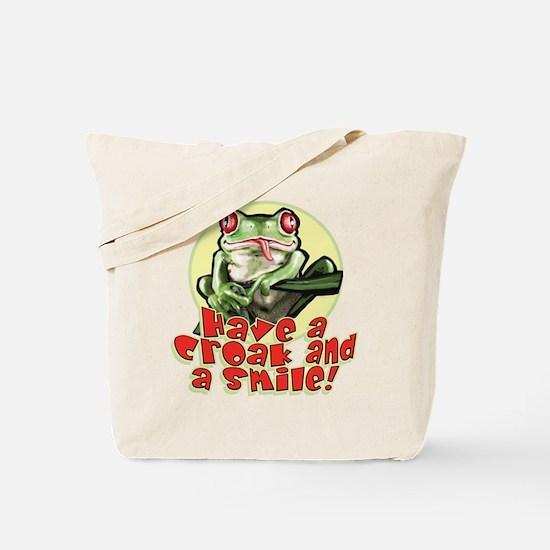 Croak and Smile Frog Tote Bag