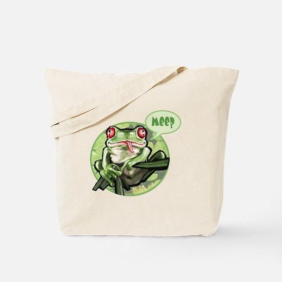 Frog goes meep Tote Bag
