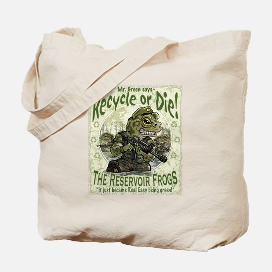 Green Enviro Frogs Tote Bag
