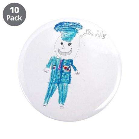 """Daddy Is An Airman - 3.5"""" Button (10 pack)"""