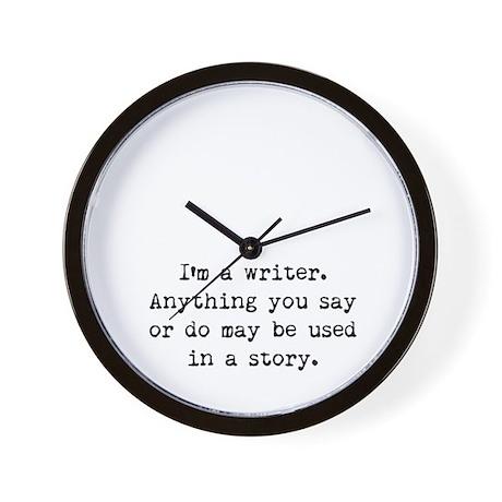 Writer's Miranda Wall Clock