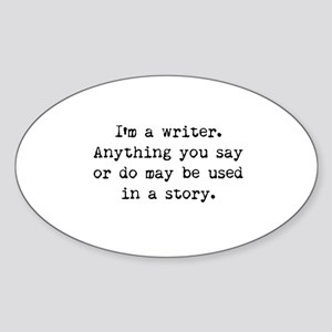Writer's Miranda Oval Sticker