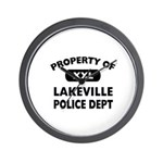 Property of Lakeville Police Dept Wall Clock