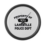 Property of Lakeville Police Dept Large Wall Clock
