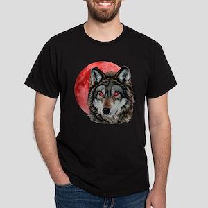 Red Moon Wolf Dark T-Shirt
