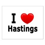I Love Hastings Small Poster