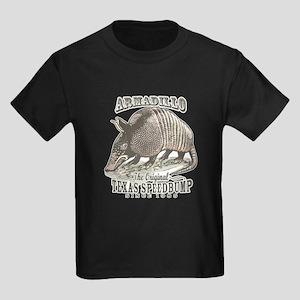 Armadillo Texas Speedbump Kids Dark T-Shirt