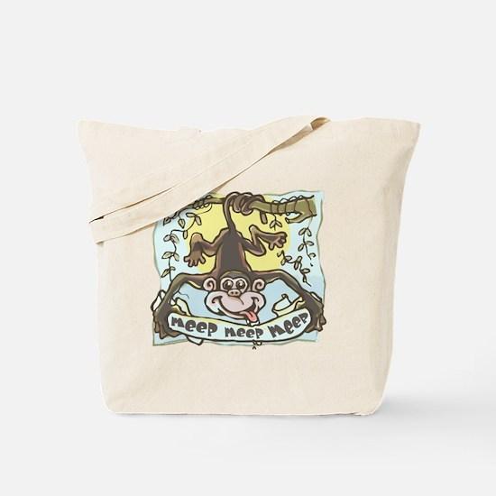 Meep Monkey Meep Tote Bag