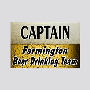 Farmington Beer Drinking Team Rectangle Magnet