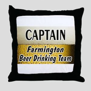 Farmington Beer Drinking Team Throw Pillow