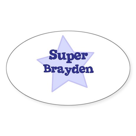 Super Brayden Oval Sticker