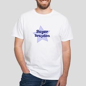 Super Brayden White T-Shirt