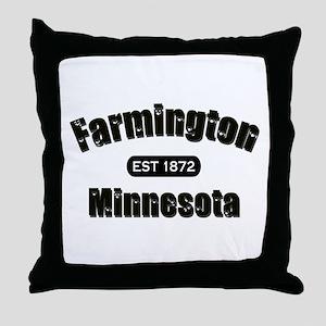 Farmington Established 1872 Throw Pillow