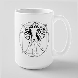 Vitruvian Woman Large Mug