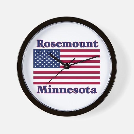 Rosemount Flag Wall Clock