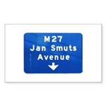 Jan Smuts Avenue Rectangle Sticker 50 pk)