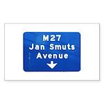 Jan Smuts Avenue Rectangle Sticker 10 pk)