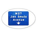 Jan Smuts Avenue Oval Sticker (50 pk)