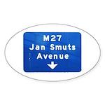 Jan Smuts Avenue Oval Sticker (10 pk)