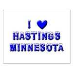 I Love Hastings Winter Small Poster