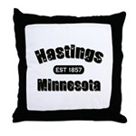 Hastings Established 1857 Throw Pillow